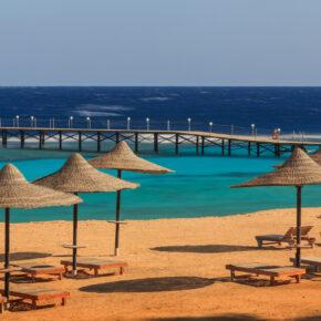Ägypten KNALLER: 7 Tage im TOP 4* All Inclusive Hotel mit Aqua Park, Flug, Transfer & Zug nur 354€
