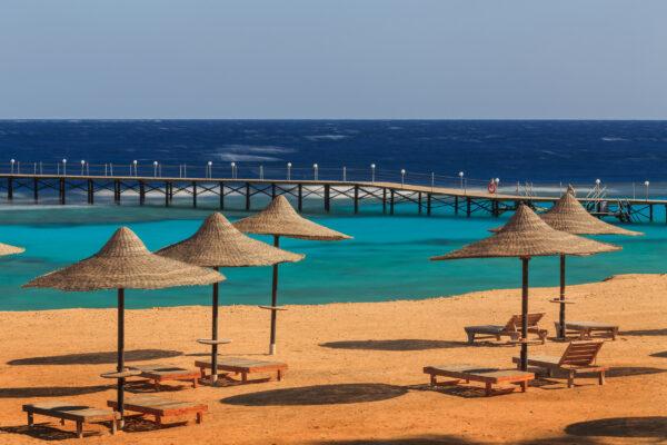 Ägypten Sonnenaufgang Strand