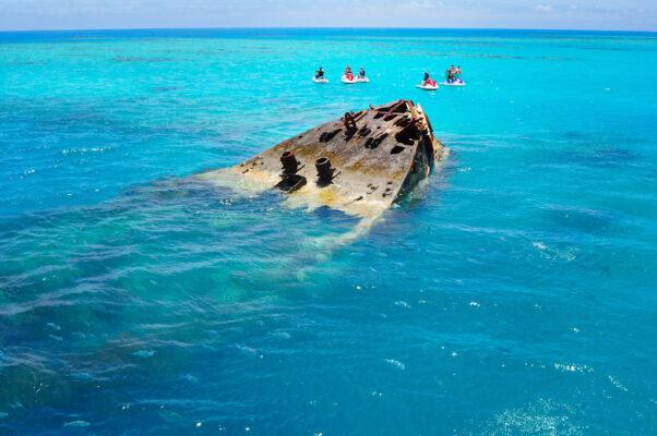 Bermuda Schiffswrack Meer