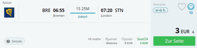 Bremen nach London