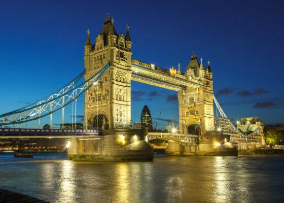 England London Brücke Beleuchtung