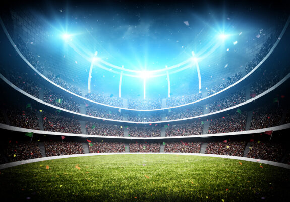 Fussball Stadion Lichter