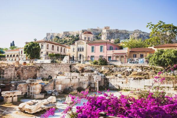 Griechenland Athen Häuser