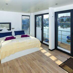Hausboot Ribnitz-Damgarten Schlafzimmer