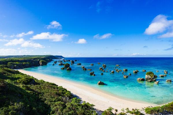 Japan Okinawa Küste