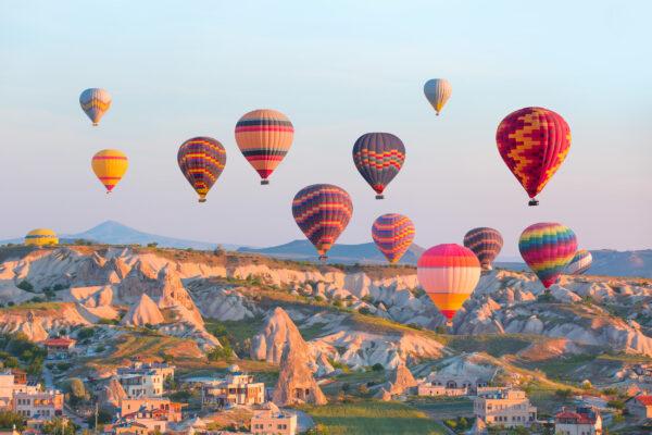 Kappadokien Ballons Landschaft