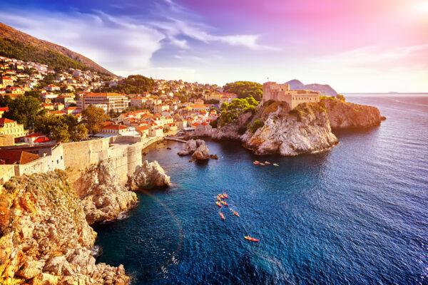 Kroatien Dubrovnik Panorama