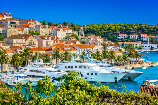 Kroatien Hvar Hafen