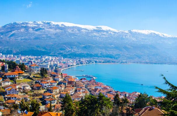 Mazedonien Ohrid Aussicht