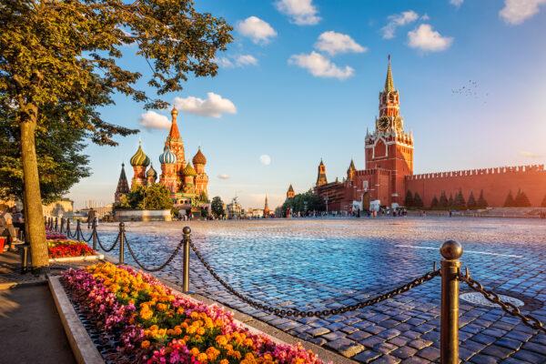Russland Moskau Roter Platz Abends