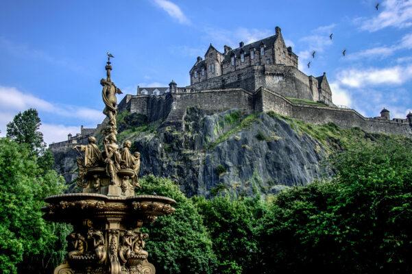 Schottland Edinburgh Schloss Unten