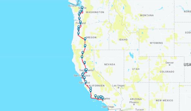 Seattle to LA