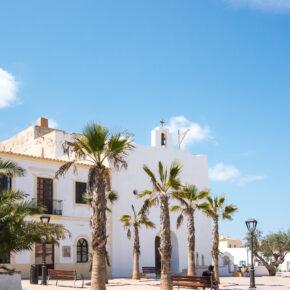 Spanien Balearen Formentera Kirche