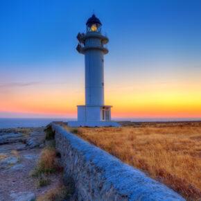 Spanien Balearen Formentera Leuchtturm