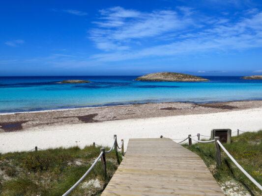 Spanien Balearen Formentera Strand Weg