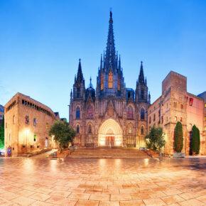 Spanien Barcelona Kathedrale Nacht