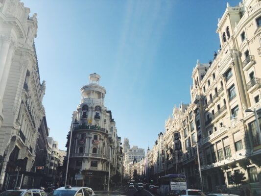 Spanien Madrid Gran Via Strasse