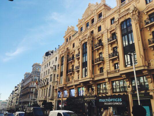 Spanien Madrid Gran Via View