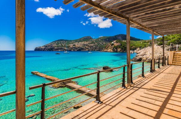 Spanien Mallorca Camp de Mar Terrasse