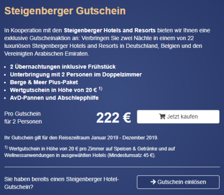 Steigenberger Gutschein