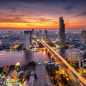 Thailand Bangkok Fluss Straßen