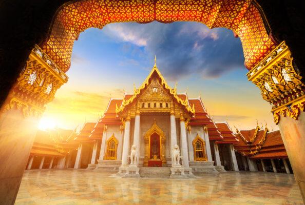 Thailand Bangkok Marble Tempel
