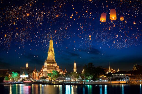 Bangkok Tipps: Wat Arun Tempel bei Nacht
