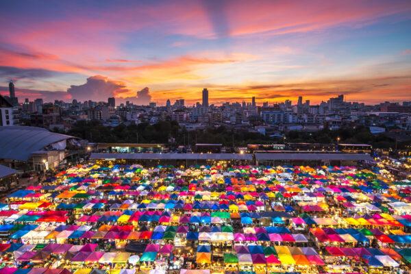Thailand Bangkok Zelte Markt