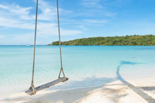 Thailand Phuket Strandschaukel