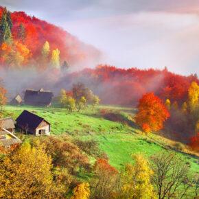 Ukraine Herbst Haus