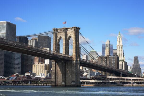 USA New York Brooklyn Bridge View