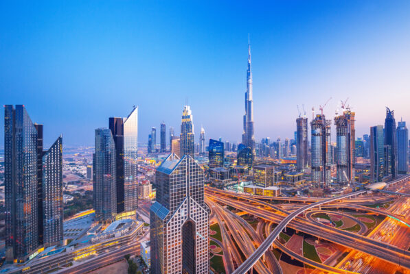VAE Dubai Skyline Lichter