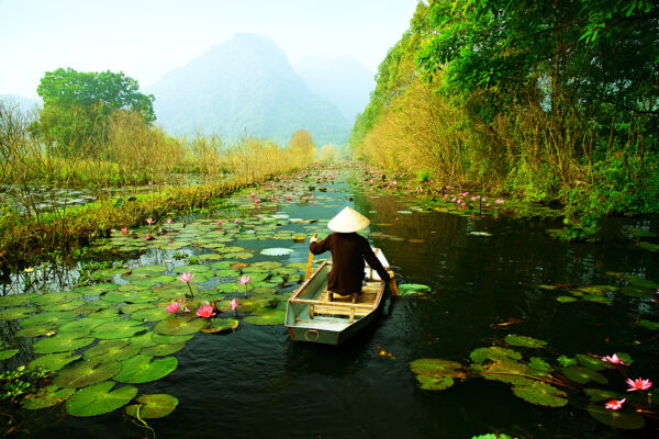Vietnam Hanoi Fischerboot