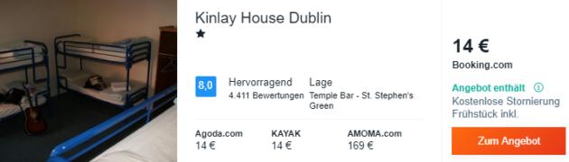 3 Tage Dublin Hotel
