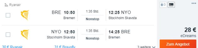 8 Tage Schweden