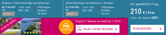 Brüssel nach Santo Domingo