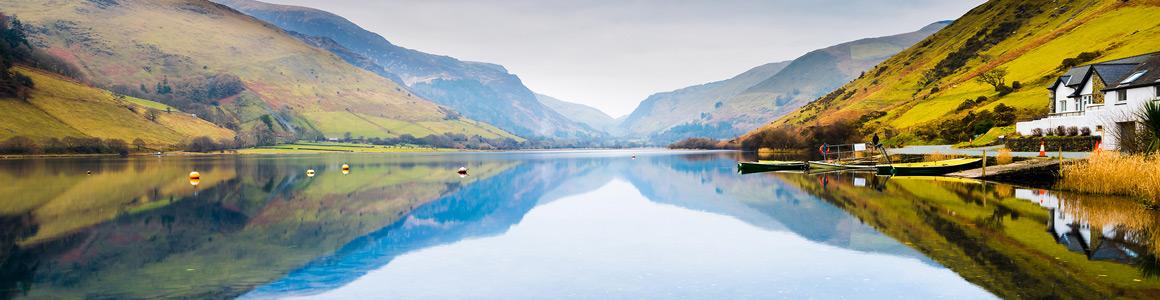 England Wales Snowdonia Park Panorama