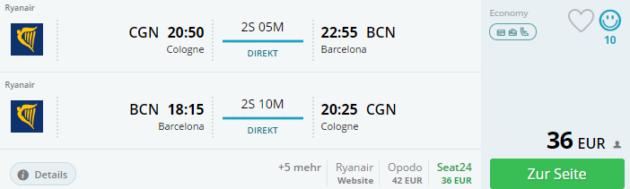 Flug Barcelona Angebot
