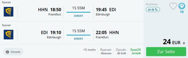 Flug Frankfurt Edinburgh