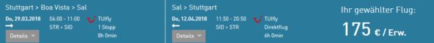 Flug Stuttgart Sal