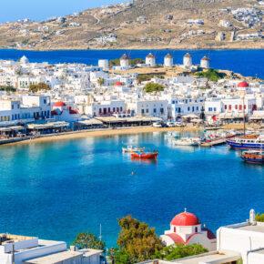 Urlaub auf Mykonos: 5 Tage Griechenland mit Unterkunft in Strandnähe & Flug für 144€