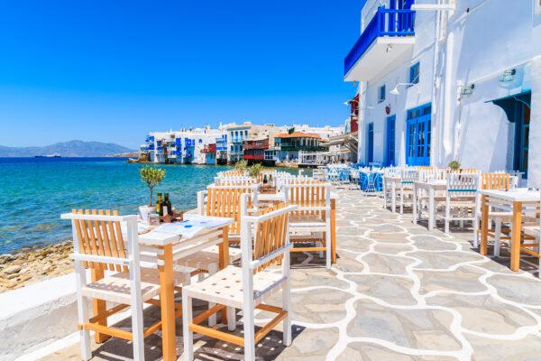 Griechenland Mykonos Stühle