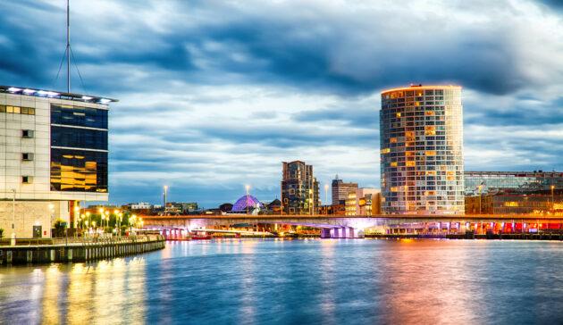 Großbritannien Belfast Skyline