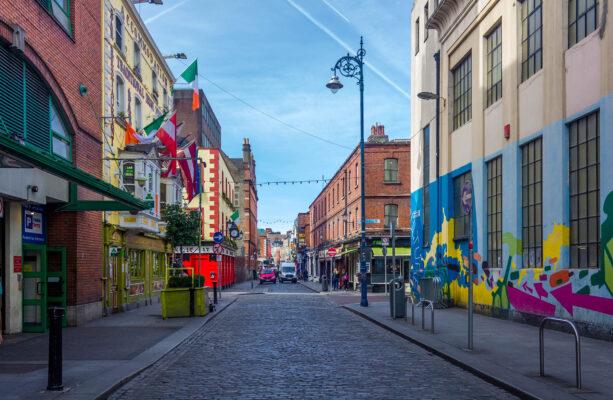 Irland Dublin bunte Straße