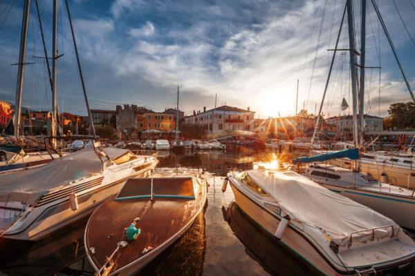 Italien Gardasee Bardolino Hafen