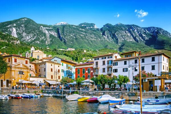 Italien Gardasee Malcesine Boote