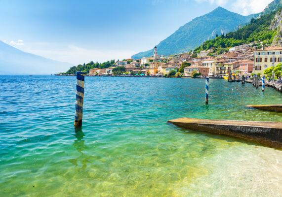 Italien Gardasee Limone Sul Garda Ausblick