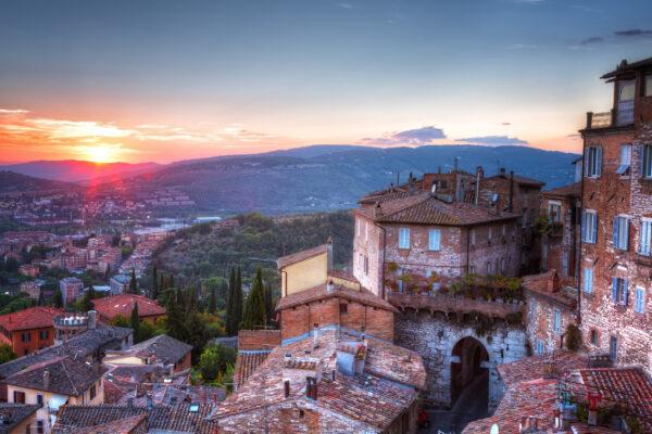 Italien Perugia Sonnenuntergang