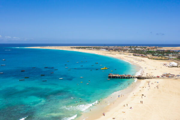 Kap Verden Santa Maria Strand