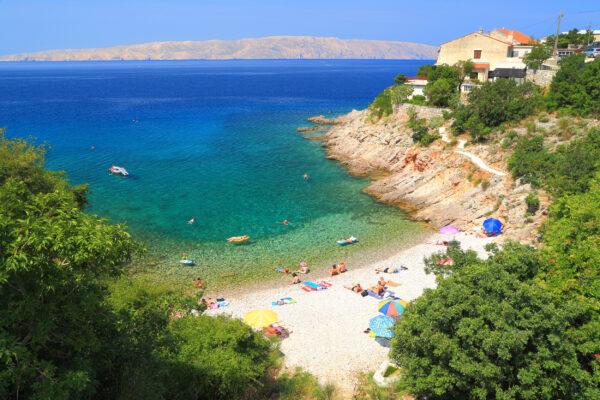 Kroatien Kvarner Bucht Senj Beach